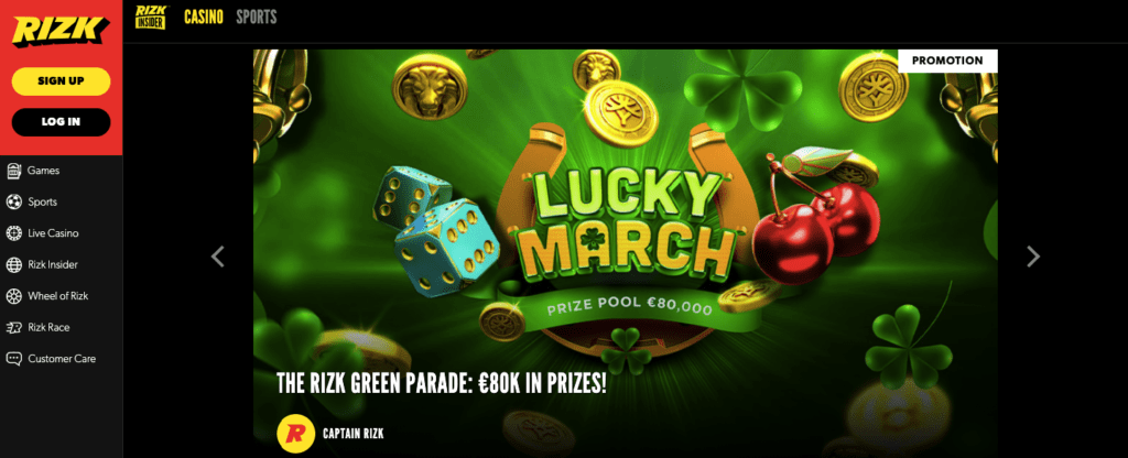 Rizk Lucky March Campaign